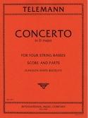 Concerto for four string basses TELEMANN Partition laflutedepan.com
