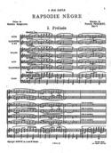 Rhapsodie Nègre - Conducteur Francis Poulenc laflutedepan.com