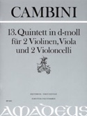 Quintette Nr. 13 En Ré Min. Giuseppe Maria Cambini laflutedepan.com