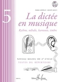 La Dictée en Musique Volume 5 laflutedepan.com