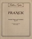 Prélude, Fugue et Variations Op 18 César Franck laflutedepan.com