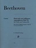 Duo Pour deux lorgnons obligés WoO 32 pour alto et violoncelle laflutedepan.com