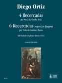 4 Recercadas Diego Ortiz Partition Viole de gambe - laflutedepan.com