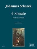 4 Sonates Johannes Schenck Partition Viole de gambe - laflutedepan.com