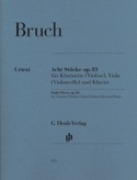 8 Stücke Opus 83 - Max Bruch - Partition - Trios - laflutedepan.com