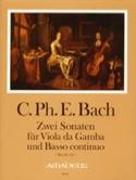 2 Sonaten Für Viola Da Gamba Und B.C. Wq 136, 137 laflutedepan.com
