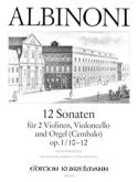 12 Sonates Vol.4 - Op.1 N°10-12 Tomaso Albinoni laflutedepan.com