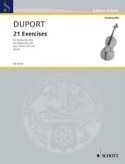 21 Exercices Jean Louis Duport Partition laflutedepan.com