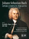 Prelude, Fugue et Allegro BWV 998 BACH Partition laflutedepan.com