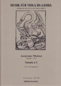 Sonate A 3 Partition Viole de gambe - laflutedepan.com