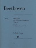 Trois Duos WoO 27 pour clarinette et basson - laflutedepan.com