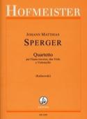Quartetto Johann Matthias Sperger Partition laflutedepan.com
