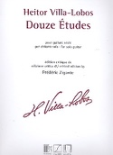 12 Etudes pour Guitare Seule - Heitor Villa-Lobos - laflutedepan.com