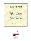 10 Duos Très Faciles Gilbert Dojat Partition laflutedepan.com