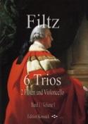 6 Trios, Volume 1 Anton Filtz Partition Trios - laflutedepan.com