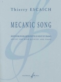 Mecanic Song Thierry Escaich Partition Sextuors - laflutedepan.com