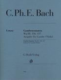 Sonates pour Viole de Gambe Wq 88, 136 & 137 laflutedepan.com