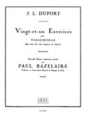 21 Exercices pour violoncelle Jean Louis Duport laflutedepan.com