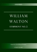 Symphonie n° 2 William Walton Partition laflutedepan.com