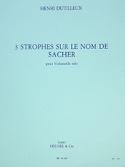 3 Strophes sur le nom de Sacher - Henri Dutilleux - laflutedepan.com