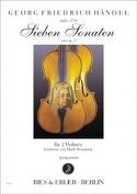 7 sonates de l'opus 1 HAENDEL Partition Violon - laflutedepan.com