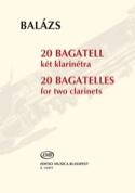 20 Bagatelles Arpad Balazs Partition Clarinette - laflutedepan.com