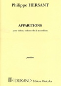 Apparitions Philippe Hersant Partition Trios - laflutedepan.com