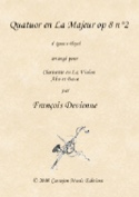 Quatuor en La Majeur, opus 8 n° 2 Ignaz Pleyel laflutedepan.com