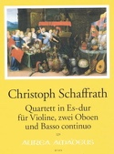 Quatuor en Mib Majeur Christoph Schaffrath Partition laflutedepan.com