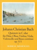 Quintette C-Dur op. 11 n° 1 Johann Christian Bach laflutedepan.com