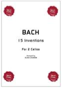 15 inventions pour 2 cellos BACH Partition laflutedepan.com