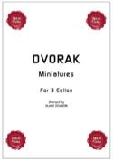 Miniatures for 3 cellos DVORAK Partition laflutedepan.com