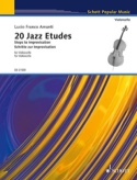 20 Jazz Etudes - Violoncelle Lucio Franco Amanti laflutedepan.com