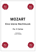 Eine kleine Nachtmusik - 4 Violoncelles MOZART laflutedepan.com