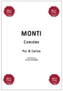 Czardas - 8 Violoncelles Vittorio Monti Partition laflutedepan.com