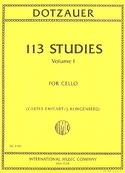113 Studies, Vol. 1 - Cello Friedrich Dotzauer laflutedepan.com