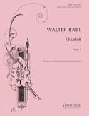 Quatuor en Mib Majeur, op. 1 Walter Rabl Partition laflutedepan.com