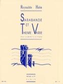 Sarabande et Thème Varié Reynaldo Hahn Partition laflutedepan.com