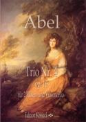 Trio op. 16 n° 4 Carl Friedrich Abel Partition laflutedepan.com
