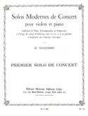 Solo de Concert n° 1 Maurice Hauchard Partition laflutedepan.com