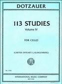 113 Etudes, Vol. 4 - Violoncelle Friedrich Dotzauer laflutedepan.com