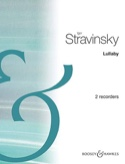 The Rake's Progress Lullaby Igor Stravinsky Partition laflutedepan.com