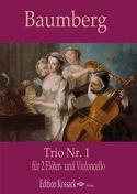 Trio n° 1 - 2 Flûtes et violoncelle J. C. Baumberg laflutedepan.com