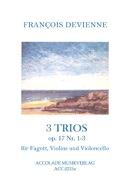 3 Trios op. 17, n°1-3 Francois Devienne Partition laflutedepan.com