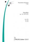 Vocalise - Alto seul - Florentine Mulsant - laflutedepan.com