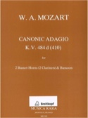 Canonic adagio in F major K.484d MOZART Partition laflutedepan.com