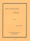 2 Interludes Jacques Ibert Partition Trios - laflutedepan.com
