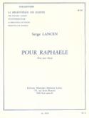 Pour Raphaele Serge Lancen Partition Harpe - laflutedepan.com
