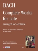 Oeuvres pour Luth - Archiluth BACH Partition Luth - laflutedepan.com