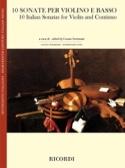 10 Sonates Italiennes - Violon et BC - Partition - laflutedepan.com